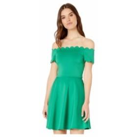 テッドベーカー レディース ワンピース トップス Fellama Bardot Scallop Skater Dress Green