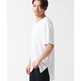 シルバーバレット CavariAワッフル生地クルーネック半袖ビッグTシャツ メンズ ホワイト 46(L) 【SILVER BULLET】