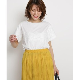 AG by aquagirl(エージー バイ アクアガール) 【洗える】ラインレースTシャツ