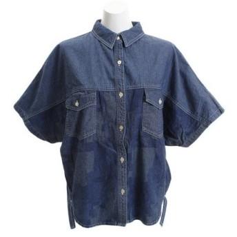 クリフメイヤー(KRIFF MAYER) インディゴ総柄 ユルシャツ 1854007L-6-DBLU (Lady's)