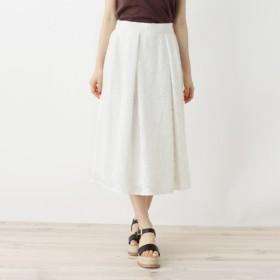 [マルイ]【セール】【洗える】フラワーカットジャカードスカート/オペークドットクリップ(OPAQUE. CLIP)