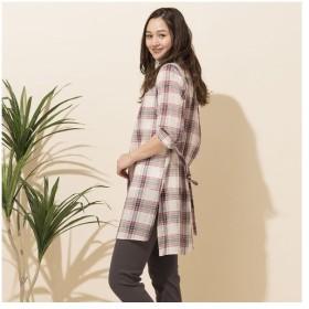 PISANO / ピサーノ [大きいサイズ]綿麻タータンチェックロングシャツ