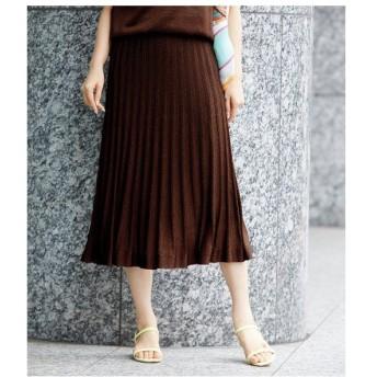 ROPE' / ロペ 【セットアップ対応】ラメプリーツニットスカート