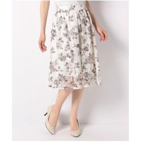 PATTERN fiona フラワープリントレーススカート(オフホワイト)【返品不可商品】