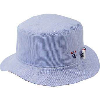 ミキハウス 【アウトレット】イカリマーク付きリバーシブルハット(帽子) ブルー