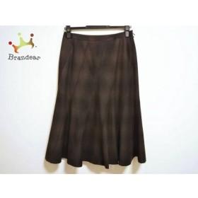 ニジュウサンク 23区 スカート サイズ40 M レディース 美品 ブラウン×黒 新着 20190513