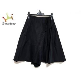 フォクシー FOXEY スカート サイズ38 M レディース 新品同様 黒 シルク/リボン     スペシャル特価 20190821