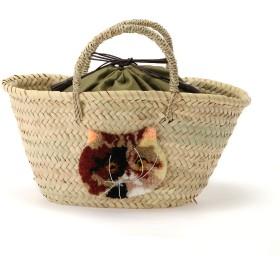 CAT IN DA HOUSE! CAT IN DA HOUSE!(キャットインダハウス)ペルシャかごバッグ かごバッグ,ナチュラル