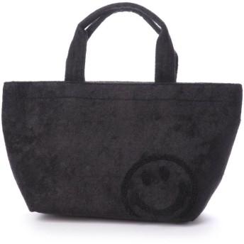 クーコ COOCO ニコちゃん 刺繍 トート バッグ (ブラック)