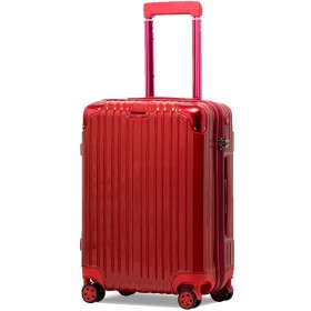 3644ab4dea タビバコ スーツケース S 小型 TSAロック 超軽量 ダブルキャスター 8輪 アルミ風 機内
