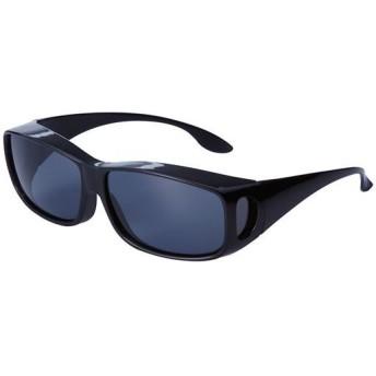 UVカット偏光オーバーサングラス - セシール ■カラー:ブラック