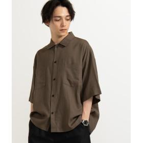 シャツ - WEGO【MEN】 麻レーヨンオーバーシャツ(5) BR19SM04-M025