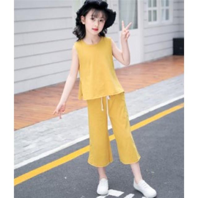 ff4e1a5ba16a3 子供服 セットアップ キッズ ジュニア 可愛い 上下セット 女の子 カジュアル 韓国風 夏 110 120