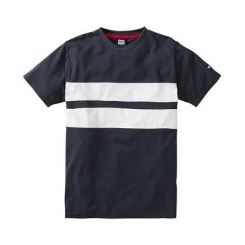 PLENTY TOUGH SPORT(プレンティタフスポーツ)カノコパネルボーダー切替半袖Tシャツ Tシャツ・カットソー