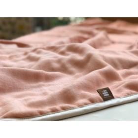 ふっくらやさしい三河木綿の5重ガーゼミニケット(ピンク) H036-005