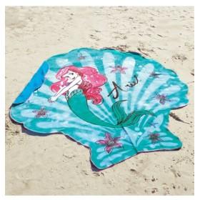 リトル。マーメイド「オン。ザ。シェル」裏パイルダイカットビーチタオル タオル