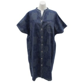 クリフメイヤー(KRIFF MAYER) インディゴ総柄 ワンピースシャツ 1854006L-6-DBLU (Lady's)