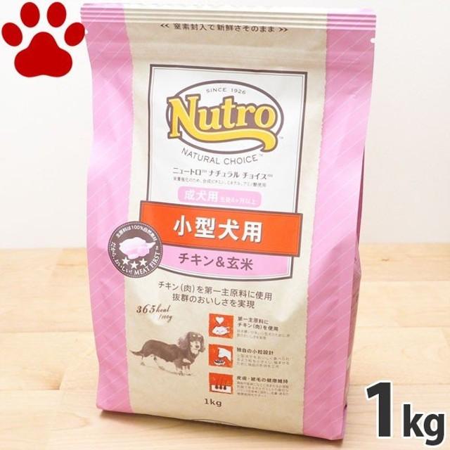 【12】 [正規品]  ナチュラルチョイス 小型犬用(体重4kg以上) 成犬用(8か月以上) チキン&玄米 1kg ニュートロ ドッグフード