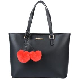 《期間限定 セール開催中》LOVE MOSCHINO レディース ハンドバッグ ブラック 紡績繊維
