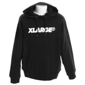 【Super Sports XEBIO & mall店:トップス】スタンダード ロゴプルオーバー パーカー 1183207-BLACK
