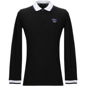 《期間限定セール開催中!》CAVALLI CLASS メンズ ポロシャツ ブラック M コットン 100%