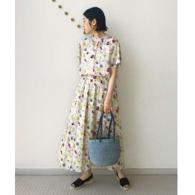NIMES / ニーム LIBERTYギャザースカート