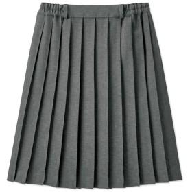 【レディース】 単色プリーツスカート(スカートベルト付き)(スクール・制服) - セシール ■カラー:グレー ■サイズ:L,LL
