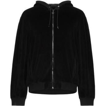 《9/20まで! 限定セール開催中》VERSACE メンズ スウェットシャツ ブラック XS コットン 78% / ナイロン 22% / 革