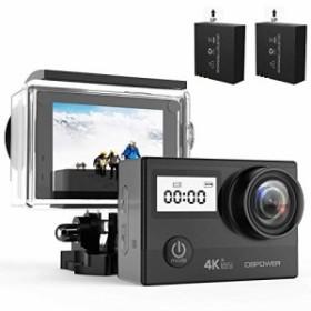 DBPOWER n5Pro WiFiアクションカメラ4K Ultra HD 20MPスポーツカメラ30(新品未使用の新古品)