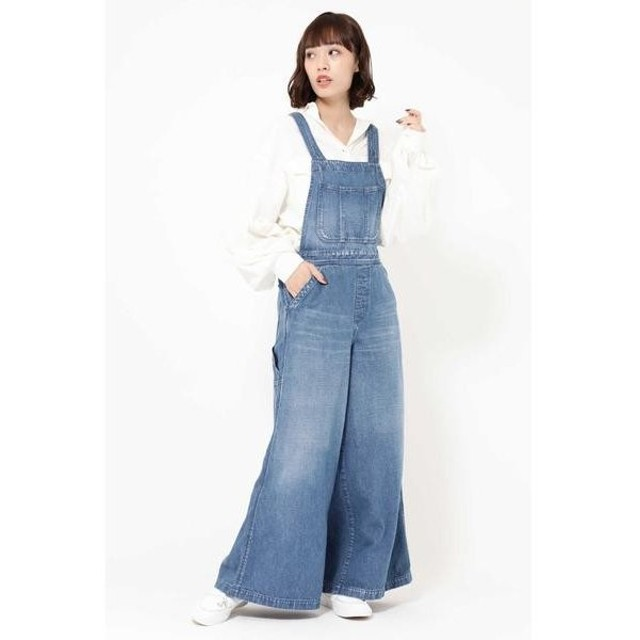 ROSE BUD / ローズ バッド NEP DENIM WIDE LEG SAROPETTO