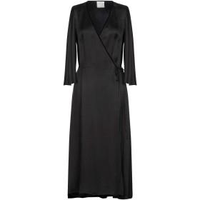 《送料無料》FORTE_FORTE レディース 7分丈ワンピース・ドレス ブラック 0 キュプラ 100%