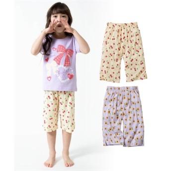 ステテコ(ルームパンツ)2枚組(女の子 子供服) キッズパジャマ