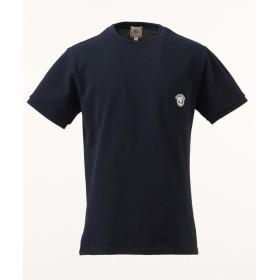 【オンワード】 J.PRESS MEN(ジェイ・プレス メン) 鹿の子エンブレム Tシャツ ネイビー L メンズ 【送料無料】