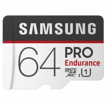 64GB 高耐久設計 microSDXCカード サムスン PRO Endurance Class10 UHS-I U1 R:100MB/s W:30MB/s SDアダプター付 海外リテール MB-MJ64GA/APC ◆メ
