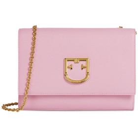 《セール開催中》FURLA レディース メッセンジャーバッグ ピンク 革 100% FURLA VIVA SMALL POCHETTE