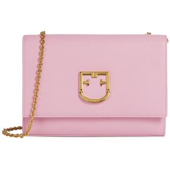 《期間限定セール開催中!》FURLA レディース メッセンジャーバッグ ピンク 革 100% FURLA VIVA SMALL POCHETTE