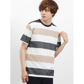 [マルイ]【セール】ヘリンボンボーダー クルーネック半袖Tシャツ/セマンティックデザイン(semantic design)