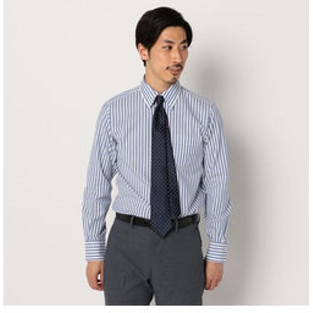 SALE開催中【FREDY & GLOSTER:トップス】カラミ織りボタンダウン ストライプシャツ