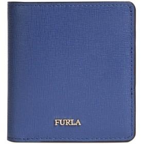 《期間限定セール開催中!》FURLA レディース 財布 ブルーグレー 革 100% BABYLON SMALL BI-FOLD