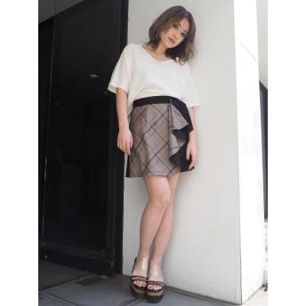 ミニスカート - MURUA ラッフルミニスカート