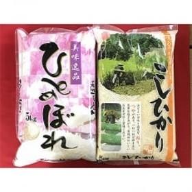 厳選 庄内米 2種食べくらべ(コシヒカリ・ひとめぼれ) 計10kg