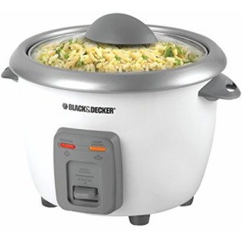 Black & Decker RC3406 3-Cup Dry/6-Cup Rice Cooker andSteamer White by (中古良品)
