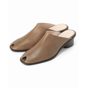 JOURNAL STANDARD 【Fot/フォート】 heel mules square:サンダル ブラウン B 39