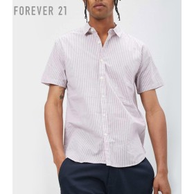 FOREVER21 フォーエバー21 【[MEN]ストライプポプリンシャツ】(5,000円以上購入で送料無料)
