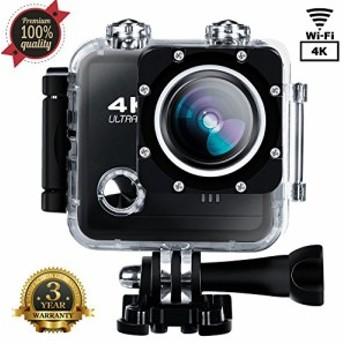 スポーツカメラスポーツビデオ4K 1080p HD WiFiアクションカメラ16MP防水(新品未使用の新古品)
