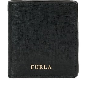 《9/20まで! 限定セール開催中》FURLA レディース 財布 ブラック 革 100% BABYLON SMALL BI-FOLD