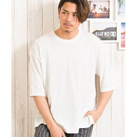 (SILVER BULLET/シルバーバレット)CavariA【キャバリア】12Gアイスサマーヤーン5分袖クルーネックTシャツ/メンズ ホワイト