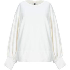 《期間限定セール開催中!》EUROPEAN CULTURE レディース スウェットシャツ ホワイト XS コットン 100%