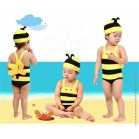 子供水着 ワンピース キッズ水着 男の子水着  ガールズ温泉プールスイムウェア 夏 ビーチ 子供 海水浴  かわいい 水泳帽おまけ 2点セット