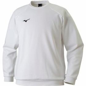 ミズノ(MIZUNO) BS スウェットシャツ 01/ホワイト 32JC717501 【スポーツ トレーニングウェア ジャージ パーカー】